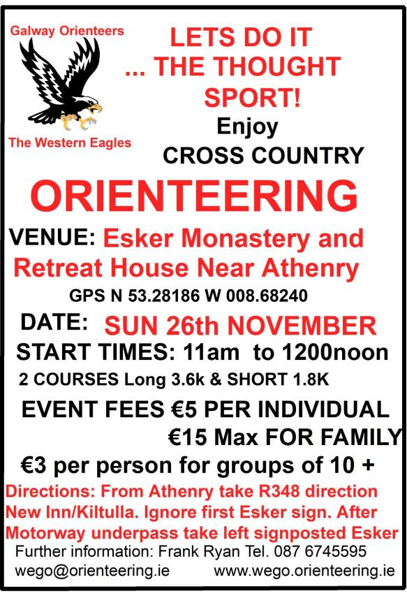 Esker O Event Sun 26th November 2017