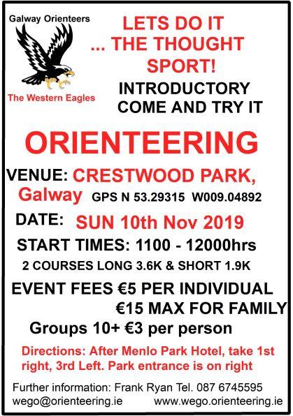 Crestwood Park O Event Notice Sun 10th Nov 2019 GPS