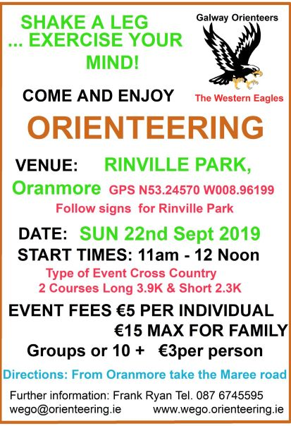 Rinville Park O Event Notice 22nd Sept 2019