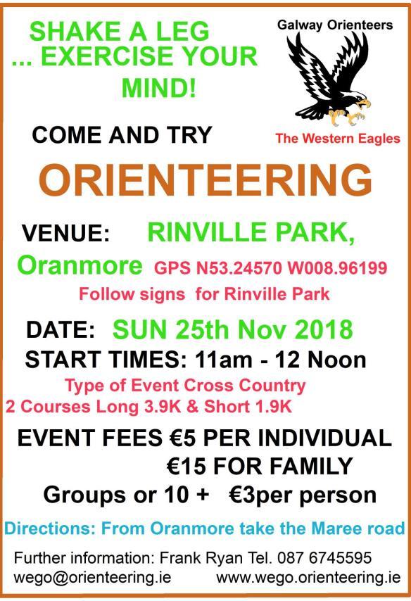 Rinville Park O Event Notice 25th Nov 2018